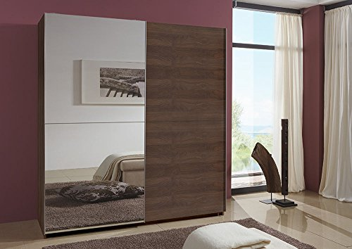 kleiderschrank nussbaum g nstig und massiv. Black Bedroom Furniture Sets. Home Design Ideas