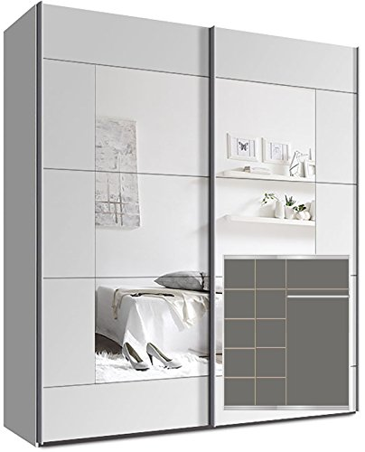 kleiderschrank mit spiegel g nstig. Black Bedroom Furniture Sets. Home Design Ideas