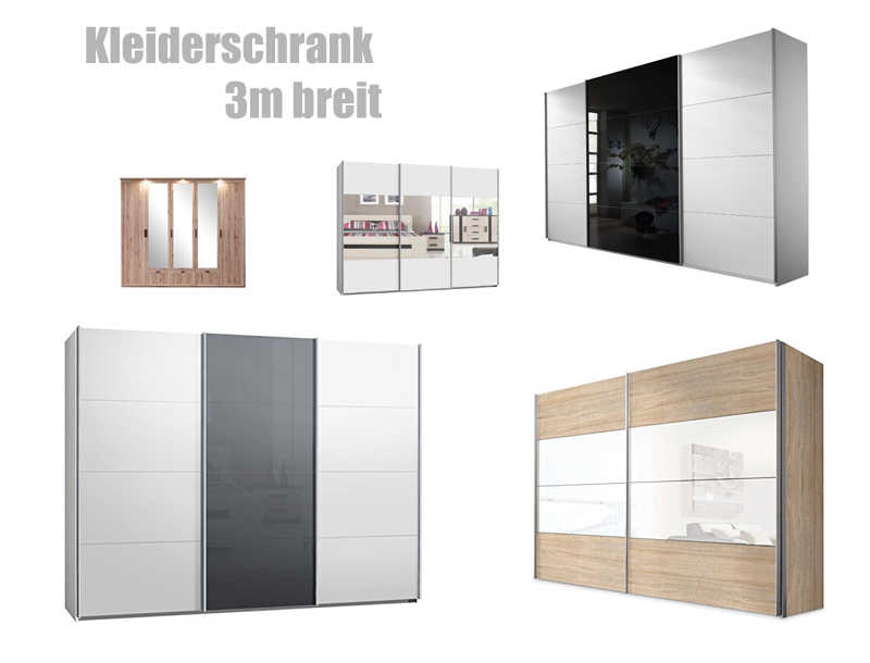 kleiderschrank 3m breit. Black Bedroom Furniture Sets. Home Design Ideas