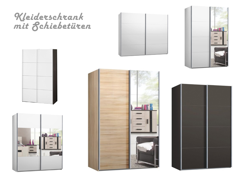kleiderschrank schiebet ren g nstig kaufen. Black Bedroom Furniture Sets. Home Design Ideas